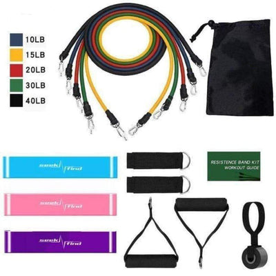 StructuredShop resistance bands All-In-One Home Workout Set Workout Set (14pcs)