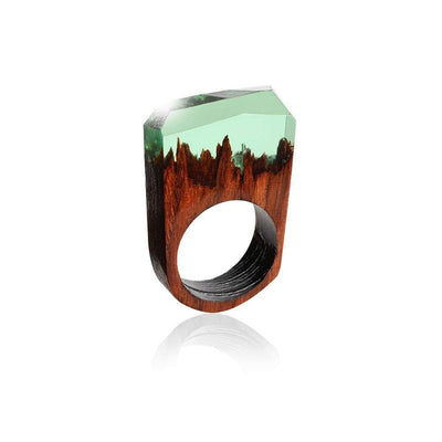 StructuredShop rings Handmade Magic Resin Rings 18mm / Crystal Green