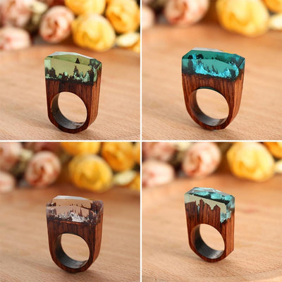 StructuredShop rings Handmade Magic Resin Rings