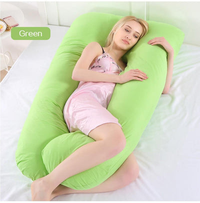 StructuredShop sleeping Super Comfy Pregnancy Pillow Green