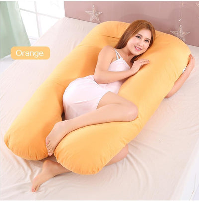 StructuredShop sleeping Super Comfy Pregnancy Pillow Orange