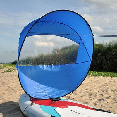 StructuredShop water sports High-Quality Portable Kayak Sail Kit Blue