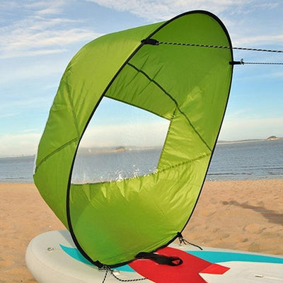 StructuredShop water sports High-Quality Portable Kayak Sail Kit Green
