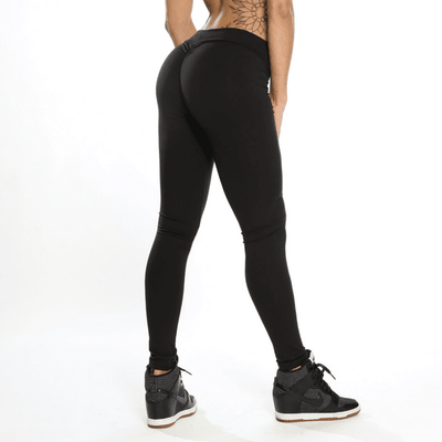 StructuredShop women leggings Super Sexy Push-Up Leggigns Black / L