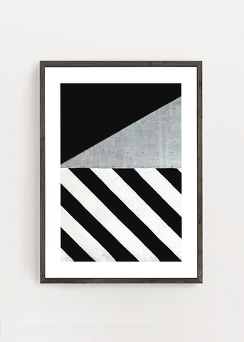 Concrete Stripes Poster
