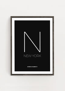 New York Location Poster