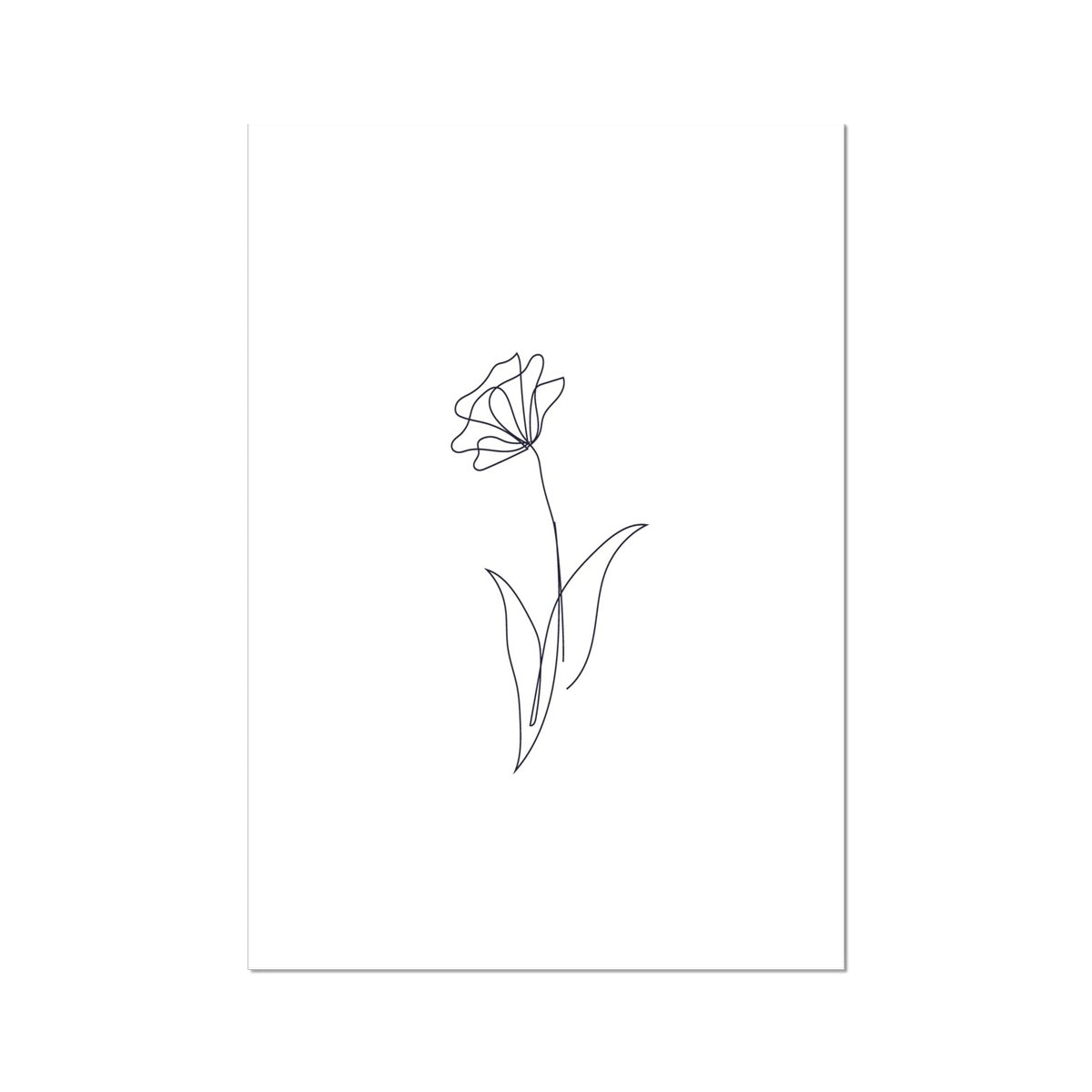 Flower line are Fine Art Print