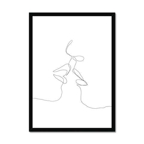 Faces embrace Framed Print
