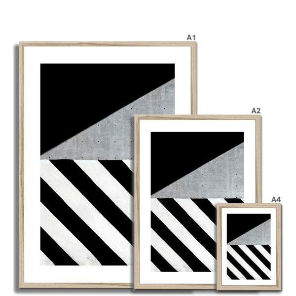 Concrete stripes Framed Print