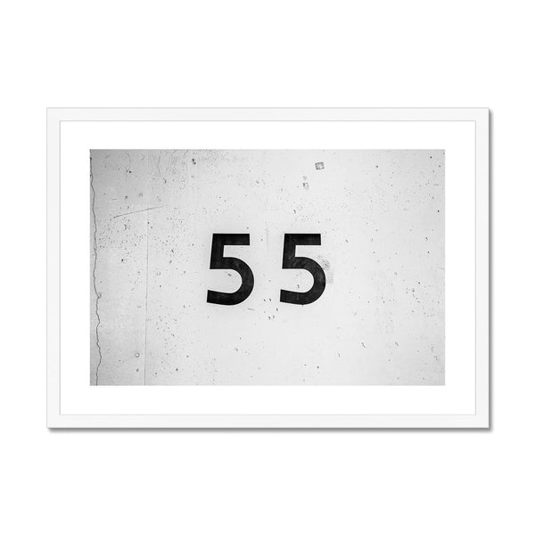 Number 55 Framed Print