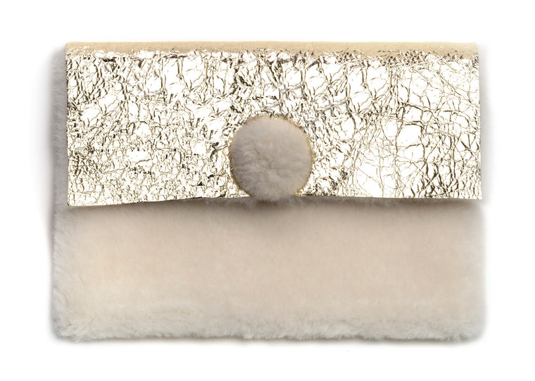 KIWI Clutch Goldleaf Platino