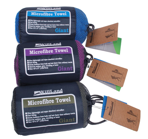 WillLand Outdoors Micro-fibre Travel Towel Giant