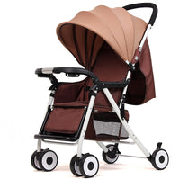 5 different colors Baby Sunshade - 4 Wheels Folding Stroller