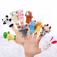 Animal Velvet Finger Puppet Set (10 pieces)