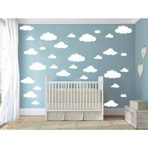 31pcs/set DIY Big Clouds 4 Sizes Decals Removable Vinyl Wall Sticker