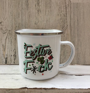 Metal Christmas Mugs