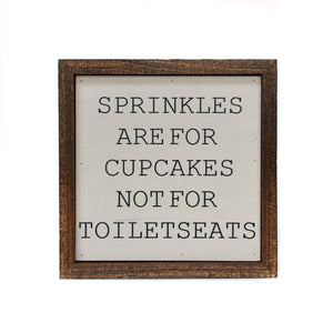 Sprinkles Bathroom Sign - Arrows, Bows & Lil Toes