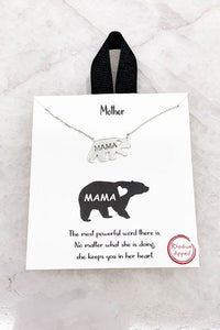 Mama bear chain necklace