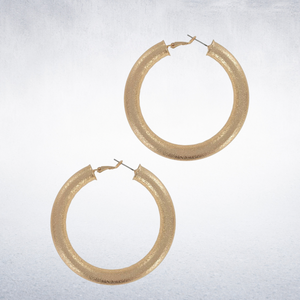 Classy gold hoops