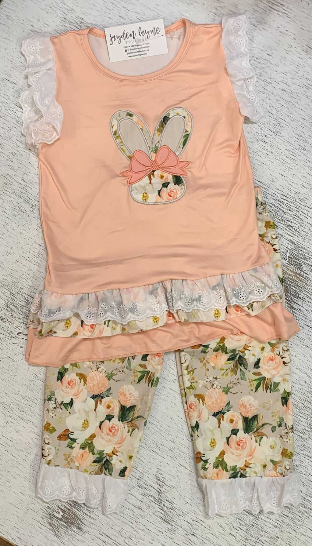 Floral Bunny Two Piece - Arrows, Bows & Lil Toes