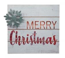 Merry Christmas block sign
