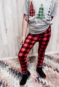Girl's Lumberjack Leggings