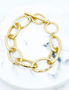 Hammered chain bracelet