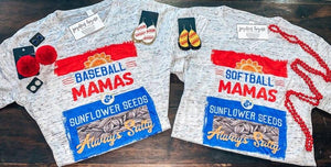 Softball Mamas & Sunflower Seeds Tee - Arrows, Bows & Lil Toes