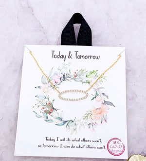 Today & tomorrow oval neckalce