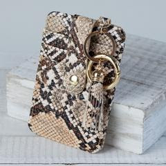 Snakeskin card clutch - Arrows, Bows & Lil Toes