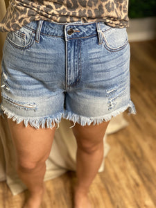 Old school denim shorts