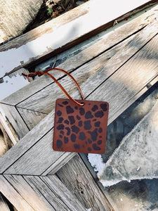 Leopard Leather Fresheners - Arrows, Bows & Lil Toes