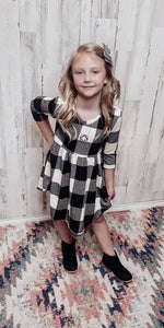 Girl's Plaid Babydoll Dress