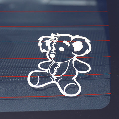 Bear Outline Vinyl Sticker (White) | Together We Rise