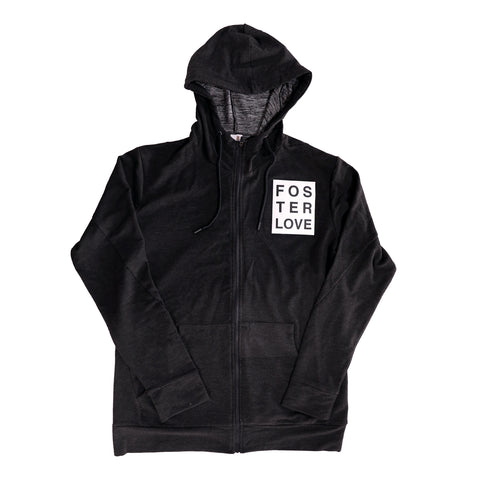 Foster Love Zip-Up Jacket Black
