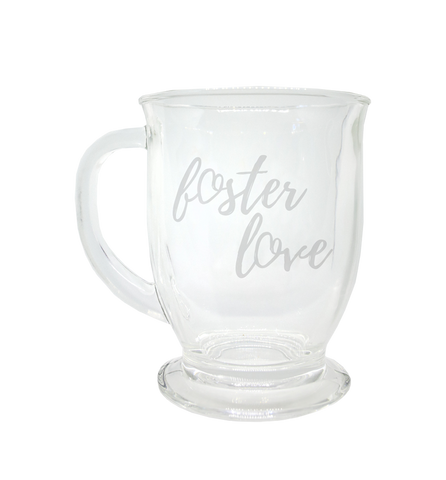 Glass Foster Love Tea & Coffee Mug | Together We Rise
