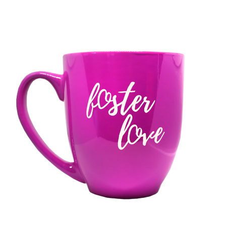 Pink Foster Love Heart Tea & Coffee Mug | Together We Rise