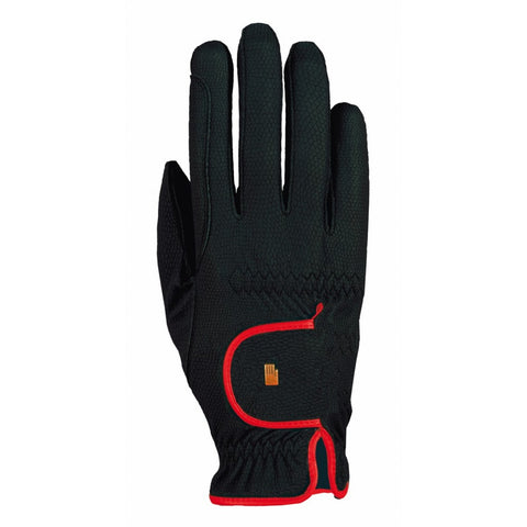 ROECKL LONA RIDING GLOVE BLACK/RED