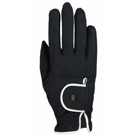 ROECKL LONA RIDING GLOVE BLACK/WHITE