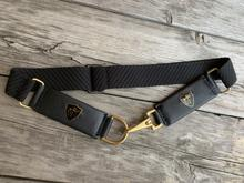 BLACK KNIGHT CHEVAL STRETCH BELT - BLACK WITH BRASS