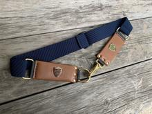 BLACK KNIGHT CHEVAL STRETCH BELT - NAVY/ TAN