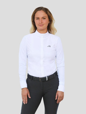 EQUILINE CATE SHOW SHIRT WHITE