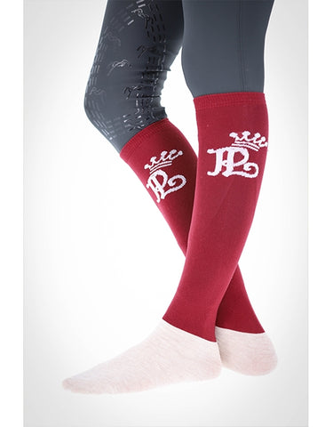 PÉNÉLOPE RIDING SOCKS - PLUM
