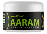 Aaram Massage Ointment, Joint Pain, Arthritis, Osteo Arthritis, Rheumatoid Arthritis, Backpain, Body Ache, Simla Pharmacy, Herbxpert, Herbal Medicine, Unani, Herbal Remedy