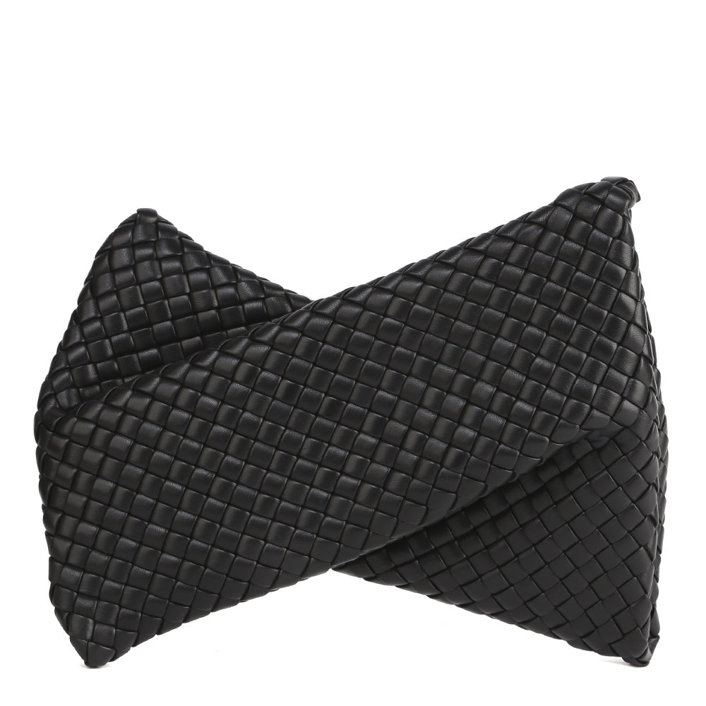 Twisted Padded Intrecciato Weave Clutch