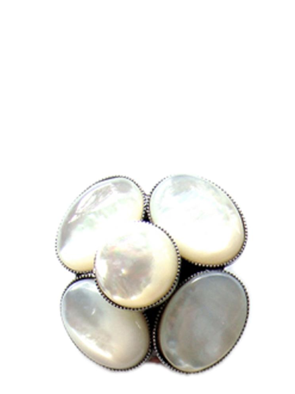 Fouquet's Mother of Pearl Clip Earring