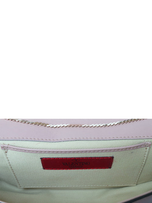 Bow Leather Clutch In Pink, VALENTINO - elilhaam.com