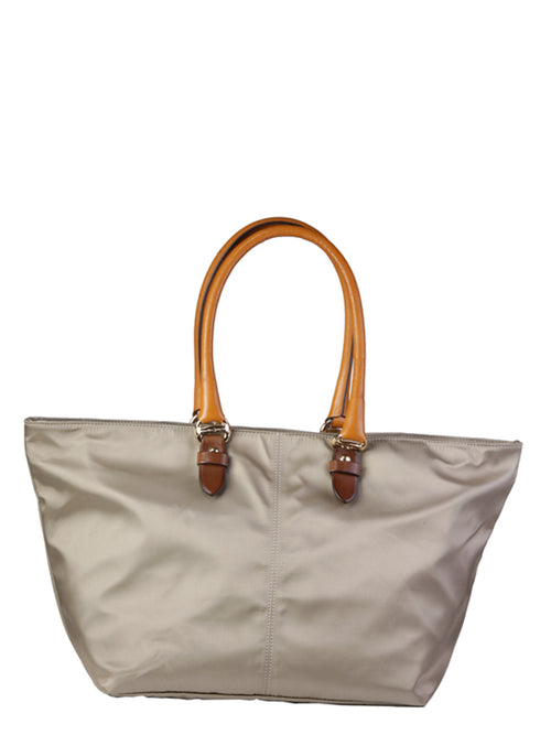 Nylon and Leather Gold Teck Tote, BEVERLY HILLS POLO CLUB - elilhaam.com