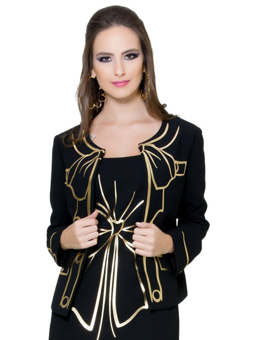 Black Gold Bow Jacket