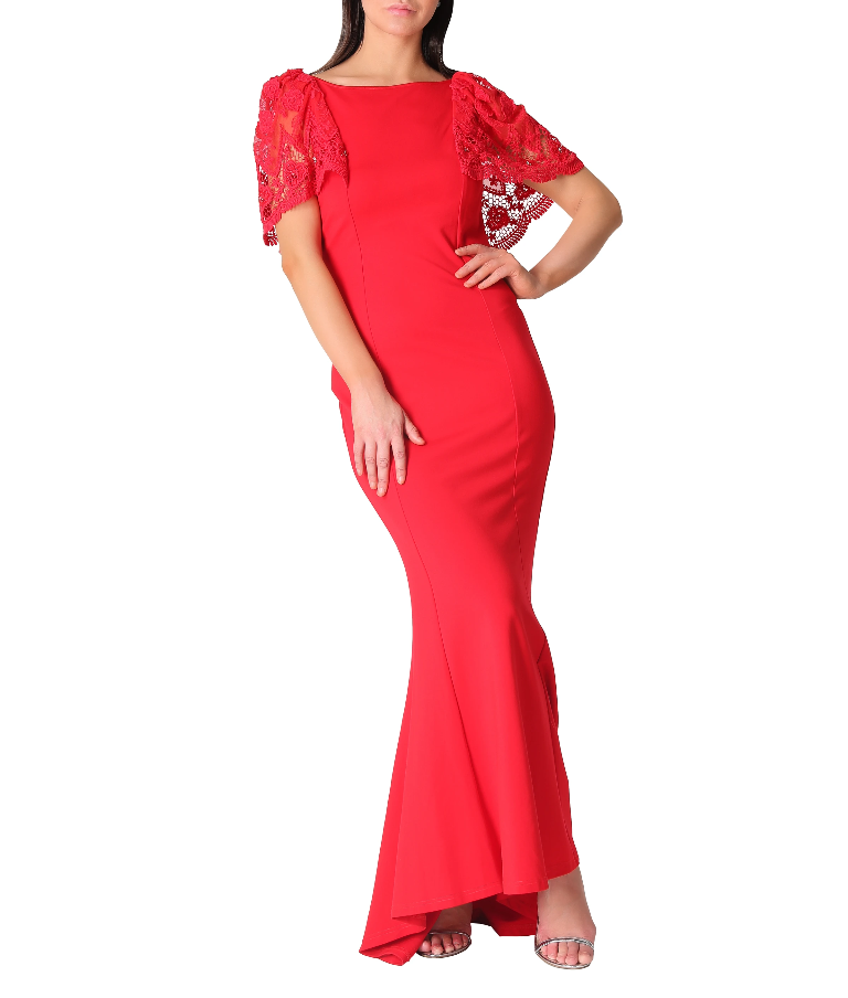 Red Fishtail Gown